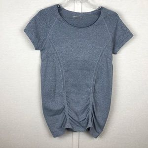 ATHLETA Gray Fast Track Tee Style 964081 Size Med